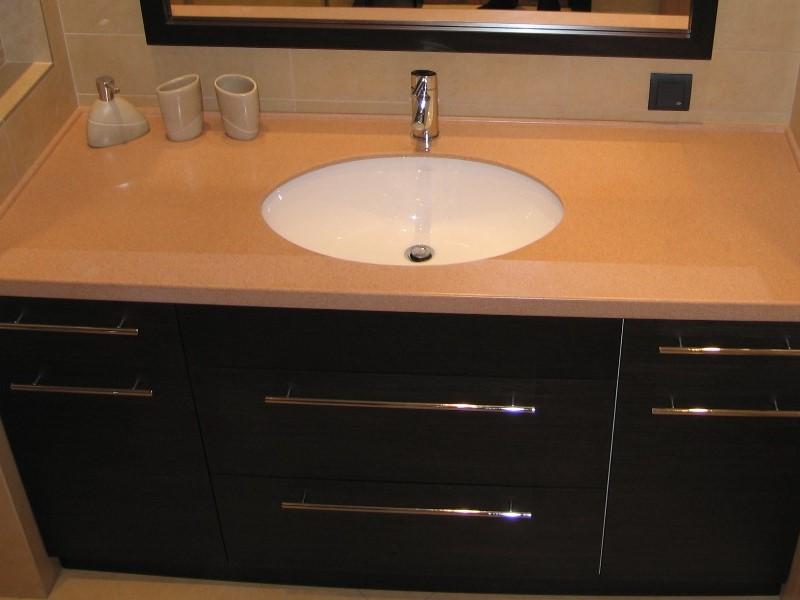 Искусственный камень раковины для ванной со столешницей