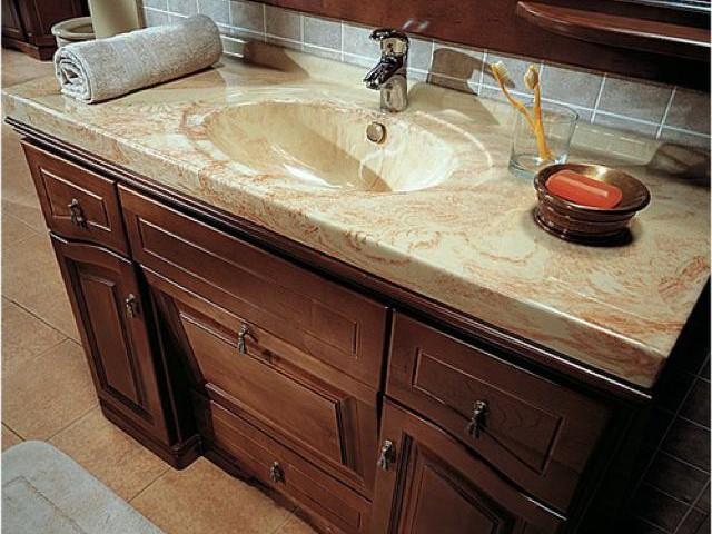 Столешницы из камня для ванной комнаты фото